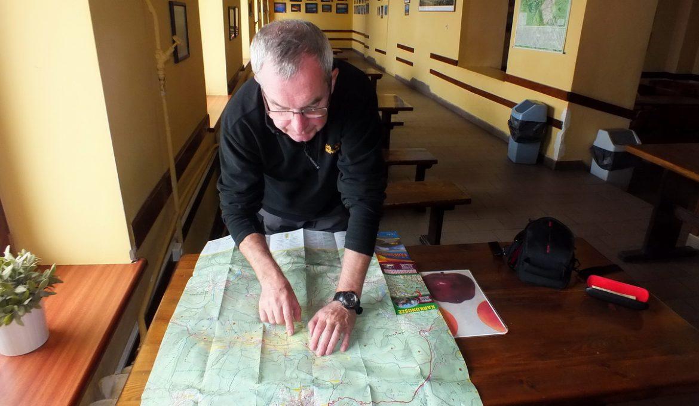 Mapy Karkonoszy, schematy szlaków z podanymi czasami przejścia