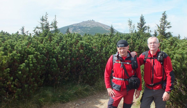 Przełęcz pod Śnieżka – Przełęcz Okraj, szlak graniowy