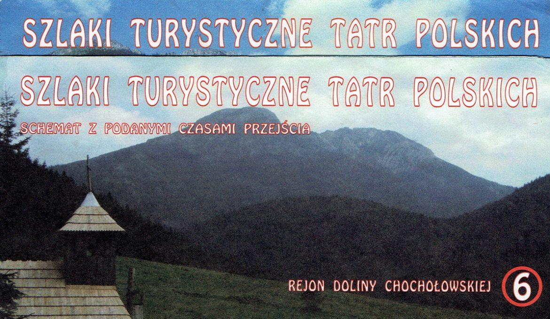 Tatry Polskie – schematy szlaków z podanymi czasami przejścia